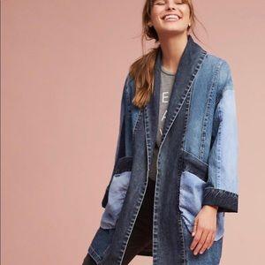 Pilcro Anthropologie Jadira Denim Kimono Jacket